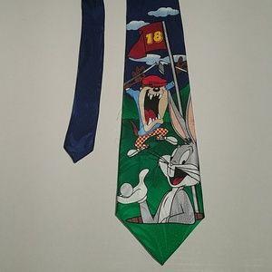Men's Looney Tunes Golf Theme Neck Tie